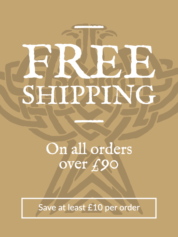 Free shipping on all orders over £90. Save at least £10 per order.
